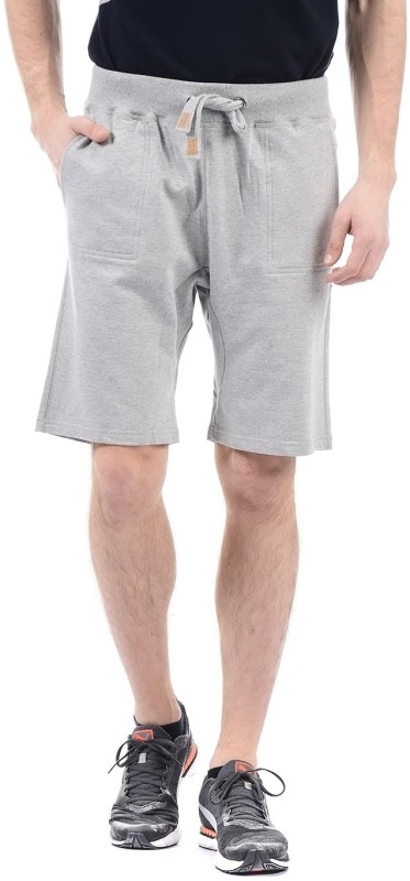 Izod Solid Men Grey Basic Shorts