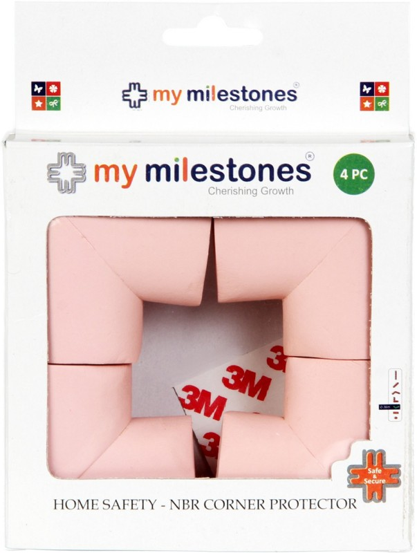 My Milestones Home Safety Product - NBR Corner Protector 4pc Set(Pink)