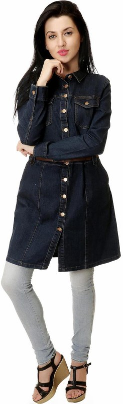 Kotty Full Sleeve Solid Women Denim Jacket