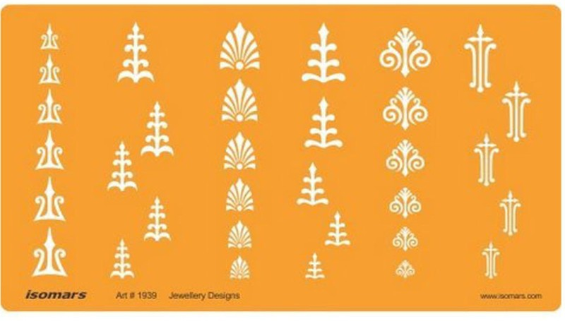 Isomars 1939 Jewelry Design Template(Pack of 1)