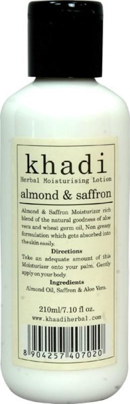 Khadi Almond & Saffron Moisturising Lotion(210 ml)
