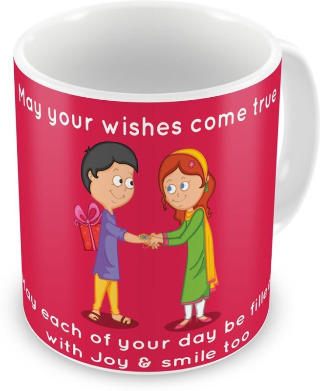 Indigifts Gift for Raksha Bandhan Rakhi Gifts for Brother Sister on Bhaidooj Birthday Anniversary (IDSRAF16117) Ceramic Mug(330 ml)