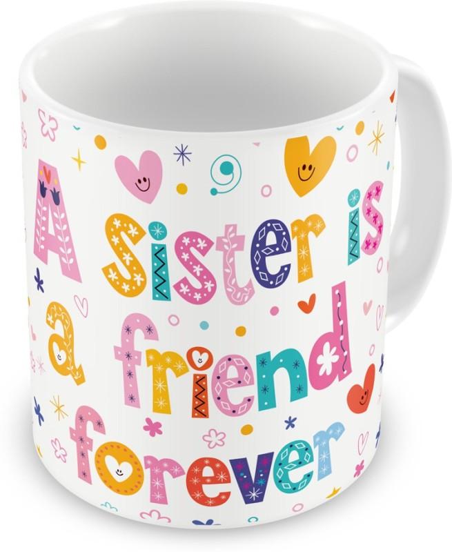 Indigifts Return Gift for Raksha Bandhan Rakhi Gifts for Sister on Bhaidooj Birthday Anniversary (IDSRAF15067) Ceramic Mug(330 ml)
