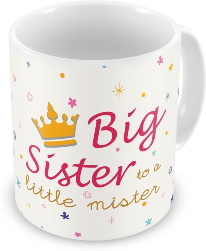 Indigifts Return Gift for Raksha Bandhan Rakhi Gifts for Sister on Bhaidooj Birthday Anniversary (IDSRAF15092) Ceramic Mug(330 ml)
