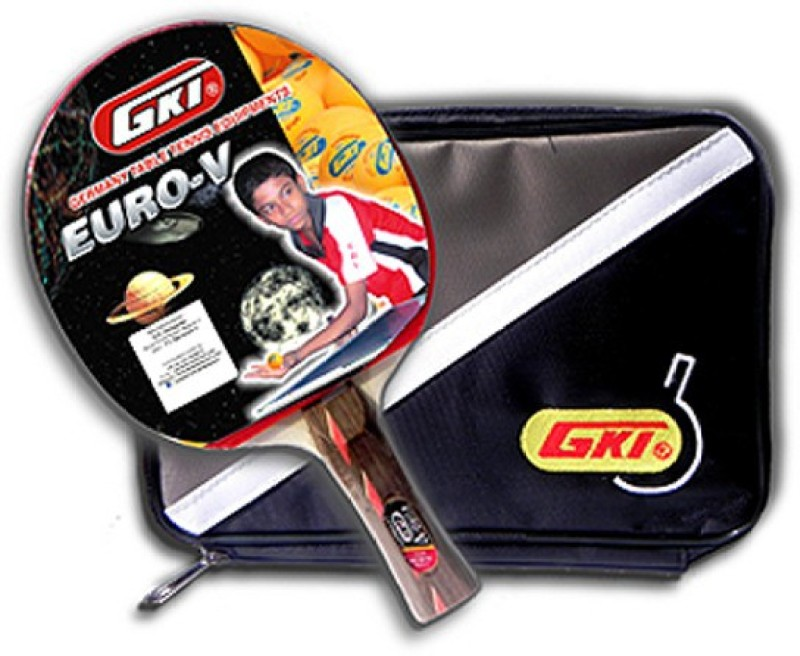 GKI Euro V With Soft Tatron Cover Multicolor Strung Table Tennis Racquet(G4, Weight - 323 g)