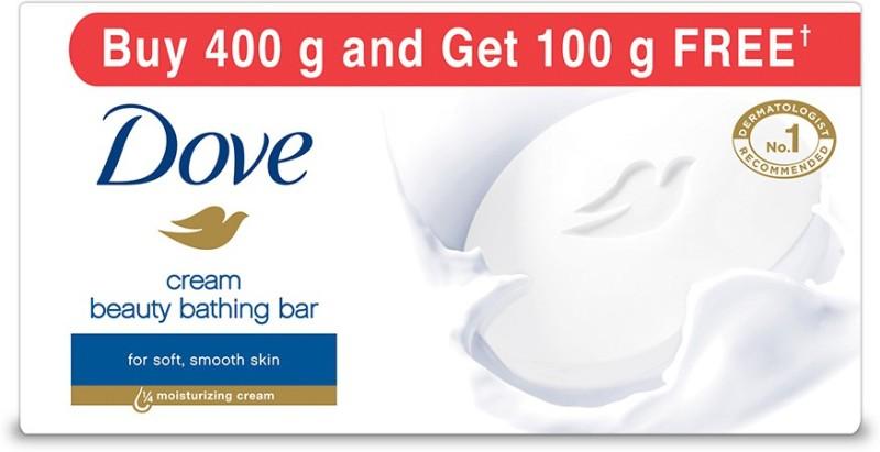 Dove Cream Beauty Bathing Bars(400 g, Pack of 5)