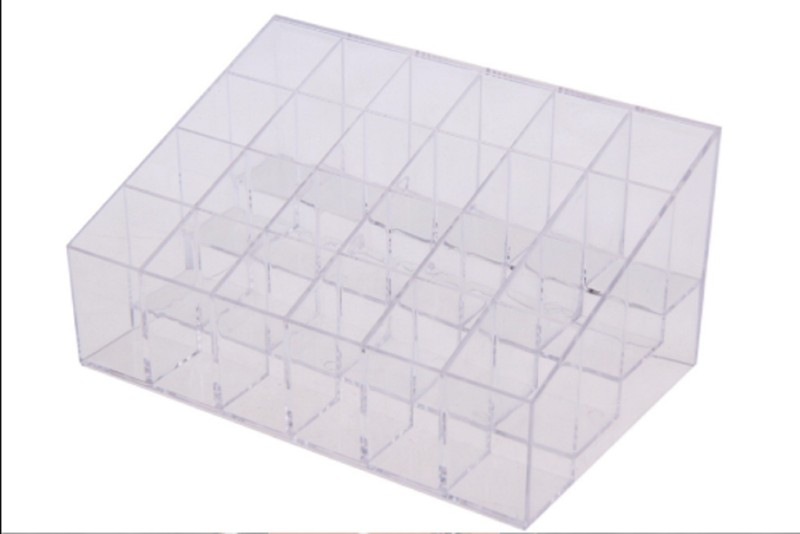 Sukot 24 Case Clear Storage Vanity Box(Transparent)
