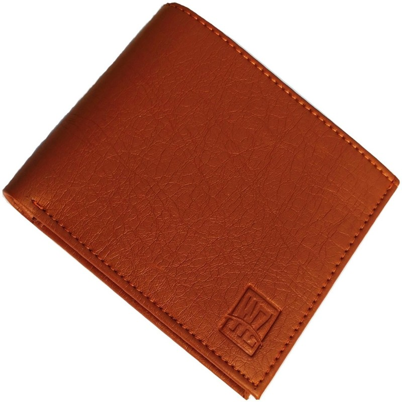 wenzest Men Tan Artificial Leather Wallet(10 Card Slots)