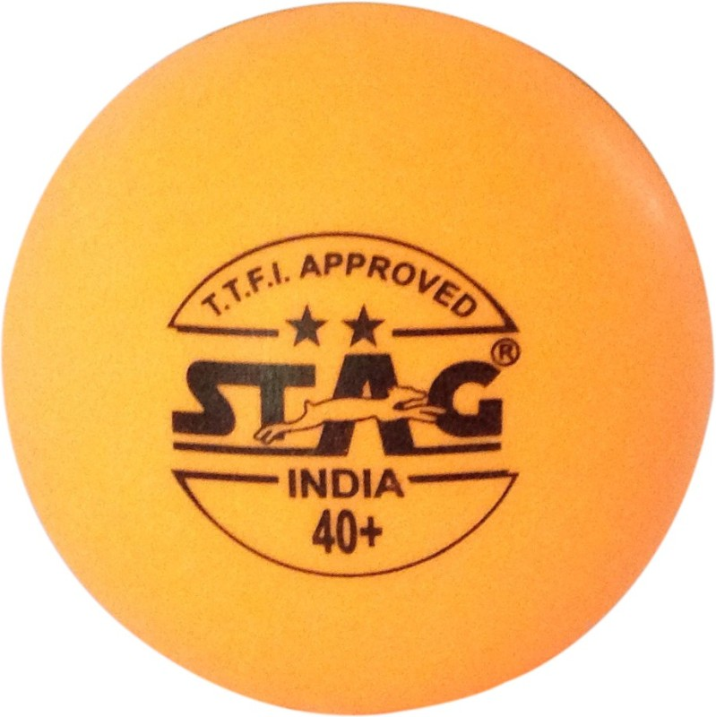 Stag Two Star Plastic Table Table Tennis Ball(Pack of 6, Orange)