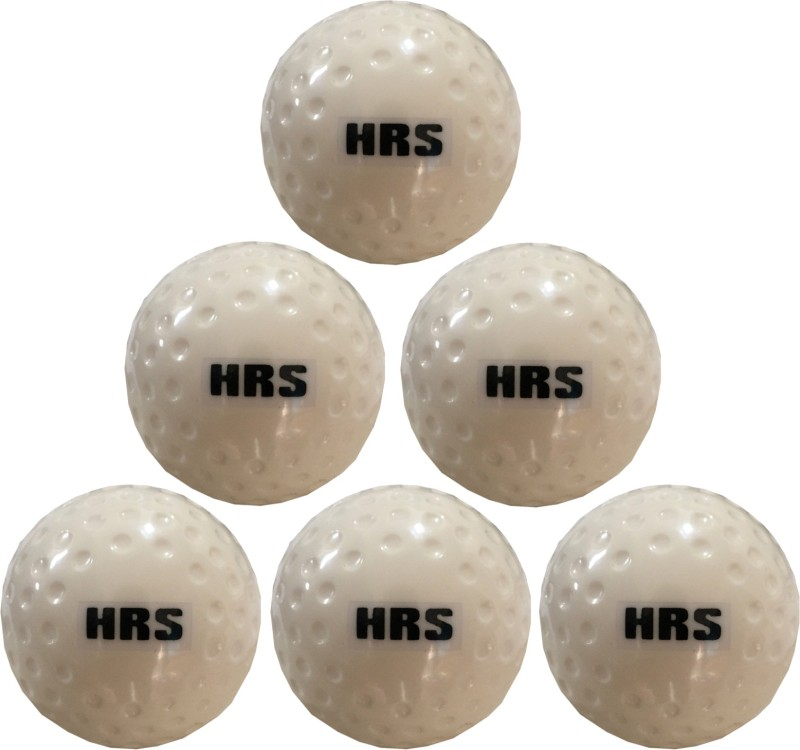 HRS Turf Dimple White Test - Pack of 6 Hockey Ball(Pack of 6, White)