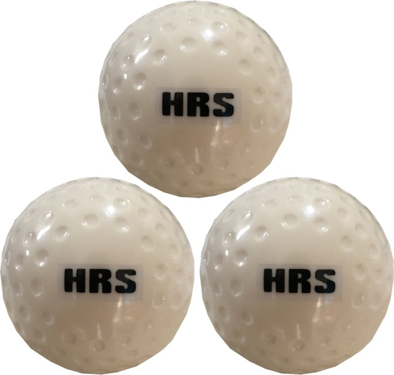 HRS Turf Dimple White Test - Pack of 3 Hockey Ball(Pack of 3, White)