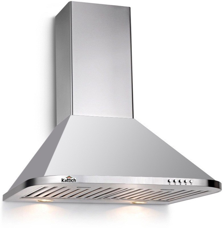 KATTICH Active 60 Wall Mounted Chimney(Silver 1100)