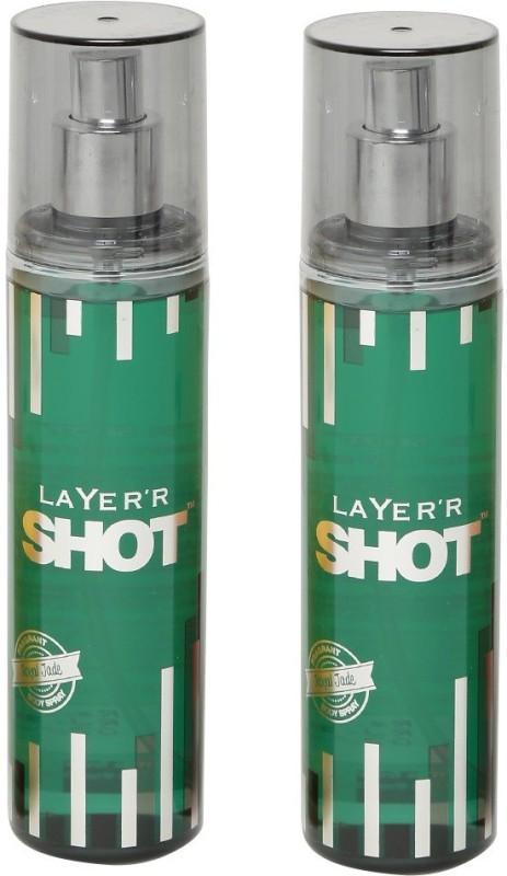 Layer SHOT ROYAL JADE 135 ML EACH ( PACK OF 2) Body Spray - For Men(270 ml, Pack of 2)
