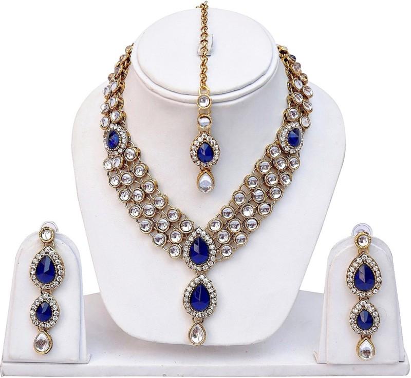 Karatcart Alloy Jewel Set(Blue)