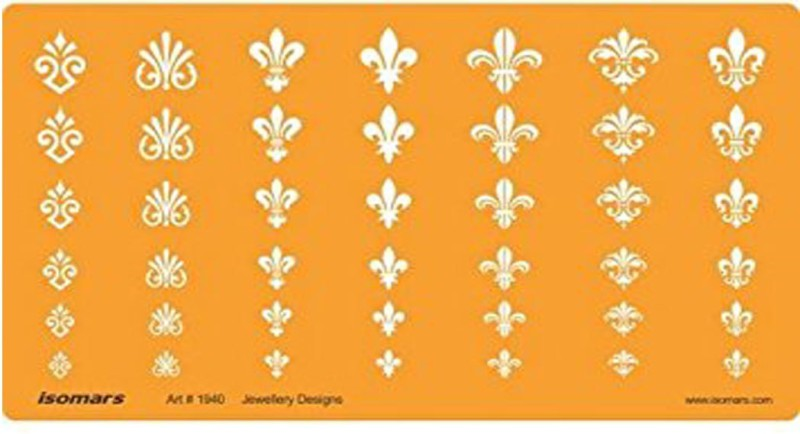 Isomars 1940 Jewelry Design Template(Pack of 1)