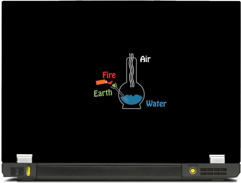 SkinShack New 3D Fundamental Elelments Fire, earth, Water, Air Chemistry Minimal (10.1 inch) Vinyl Laptop Decal 10.1