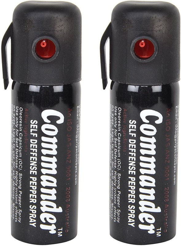 Commander Ladies Guardian Self Defence Women Safety upto 10 feet Range Dispensable Combo Pack of 2 Pepper Stream Spray