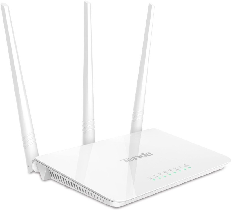 TENDA F3 Wireless Router with 3 antenna, 3LAN, 1WAN Port + Repeater Router(White)