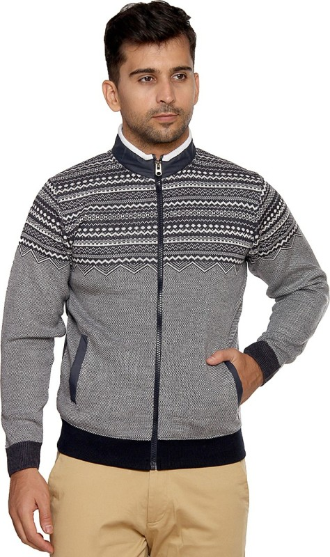 Duke Solid Round Neck Casual Men Grey Sweater