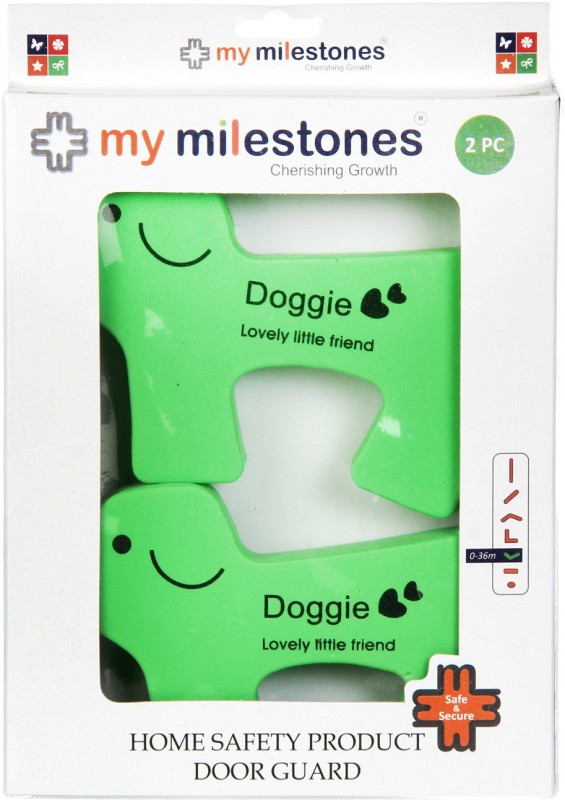 My Milestones Home Safety Product Door Guard - Dog 2pc set(Green)