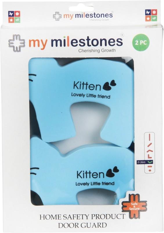 My Milestones Home Safety Product Door Guard - Kitten 2pc set(Blue)