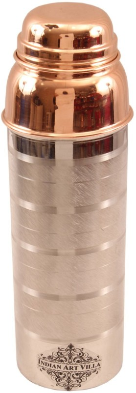 IndianArtVilla Steel Copper Luxury Water Bottle 800 ml Bottle(Pack of 1, Brown)