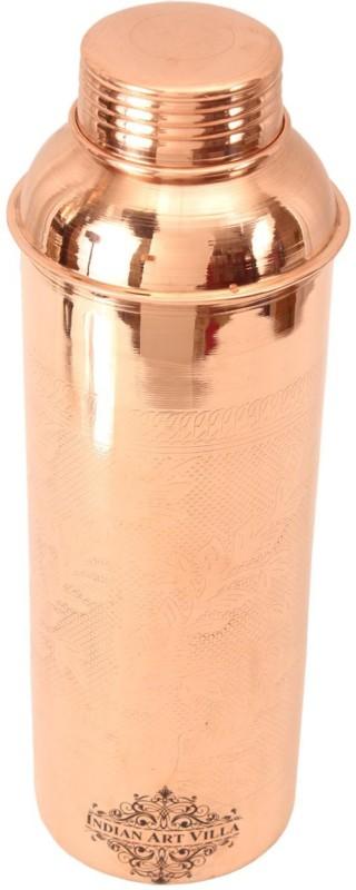 IndianArtVilla Copper Embossed Bisleri Design Bottle 900 ml Bottle(Pack of 1, Brown)