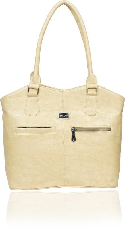 Rozen Women Beige Shoulder Bag