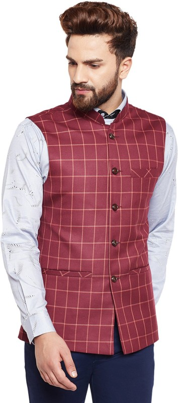 Hancock Sleeveless Checkered Mens Jacket