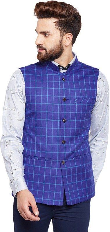 Hancock Sleeveless Checkered Men Jacket