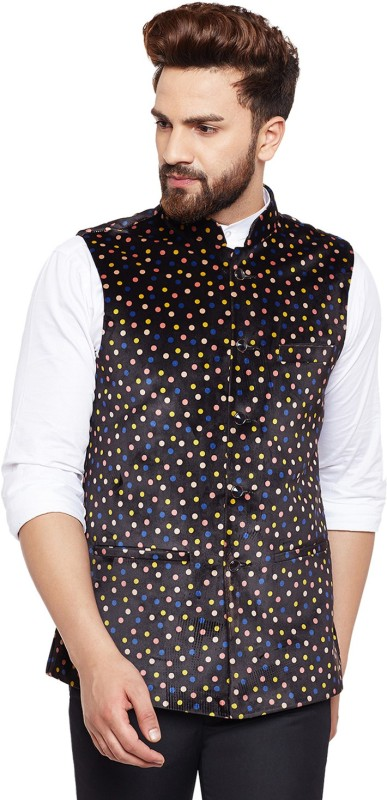 Hancock Sleeveless Polka Print Mens Jacket