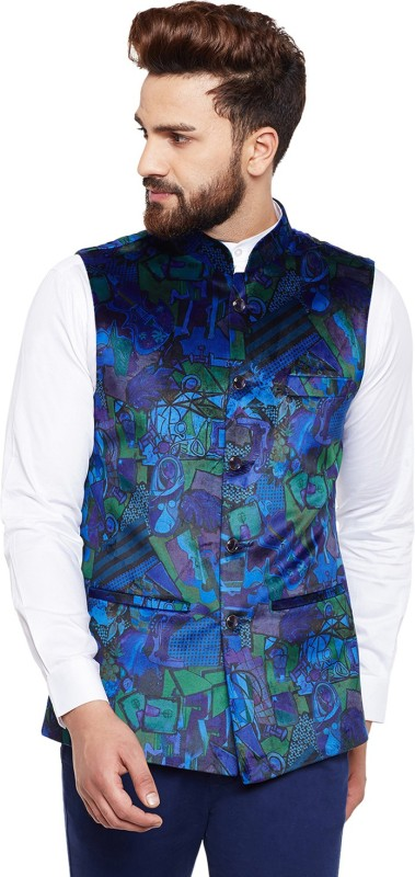 Hancock Sleeveless Printed Men Jacket