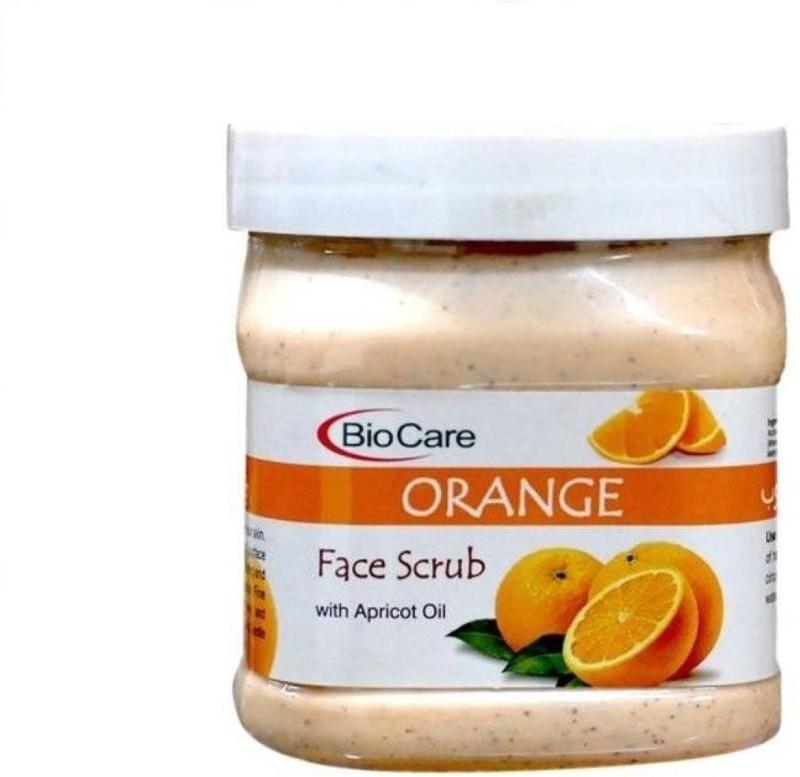 Biocare Orange Face Scrub With Apricot Oil Scrub(500 ml)