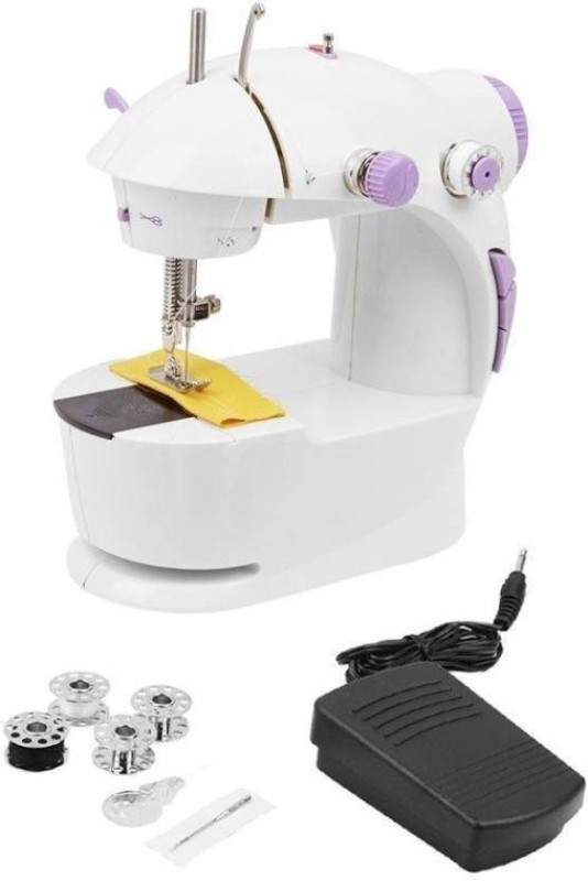 Gking G001 Portable & Compact 4 in 1 Mini Adapter Foot Pedal Electric Sewing Machine( Built-in Stitches 1)