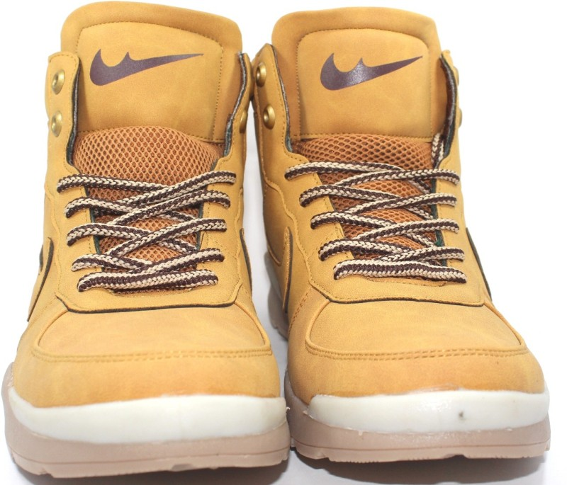 top newzer 1113 Camel brown High ankle casual boot sneakers Basketball Shoes For Men(Khaki)