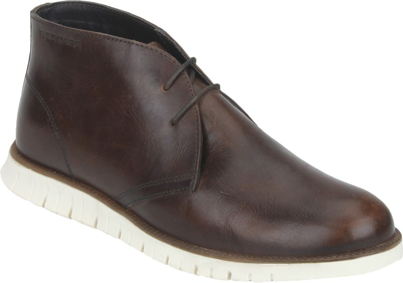 Red Tape Men Leather Chukka Boots For Men(Brown)