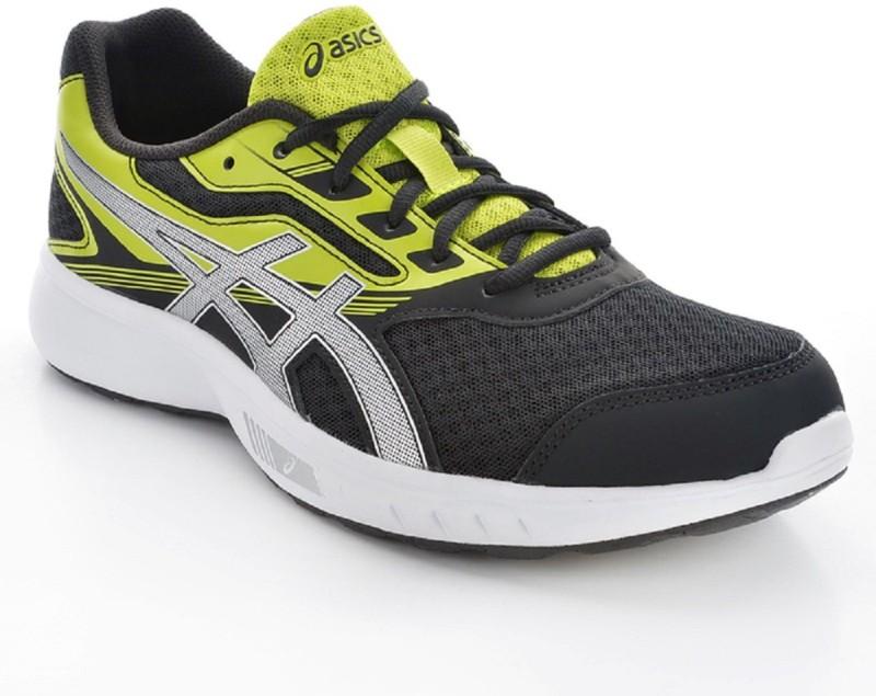 Asics STORMER Running Shoes For Men(Black, Green)