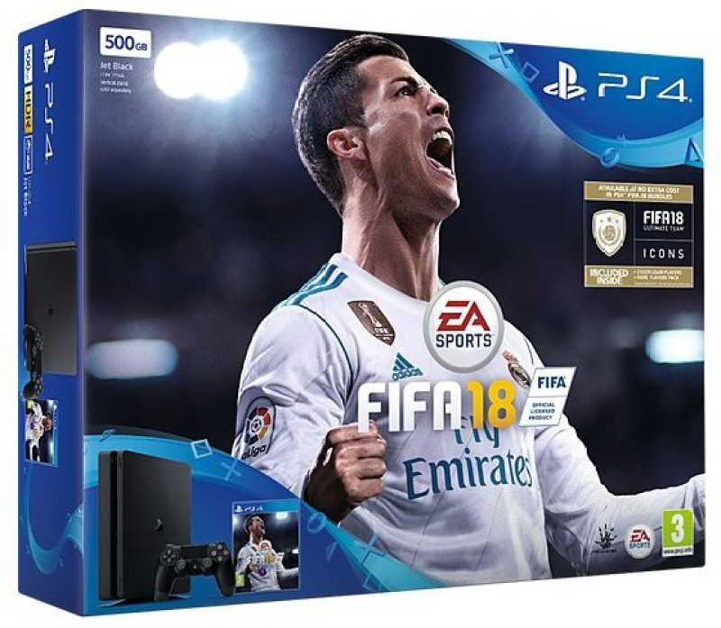 Sony Ps4 500GB GB with Fifa 18(Black)