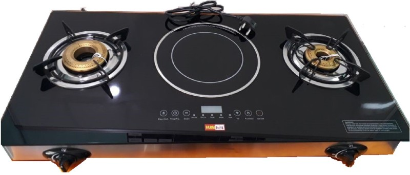 Farm Electronics Hybrid Model Stainless Steel Manual Gas Stove(2 Burners)