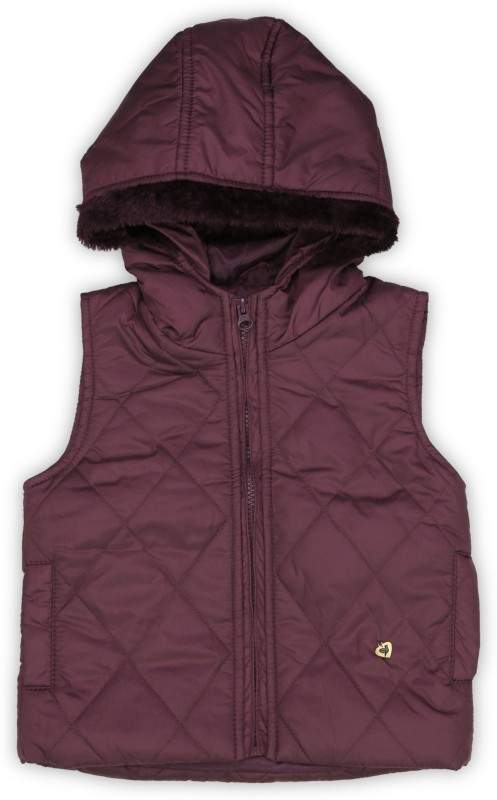 612 League Sleeveless Solid Girls Jacket