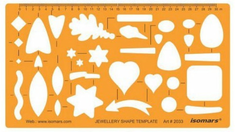 Isomars 2033 Jewelry Design Template(Pack of 1)