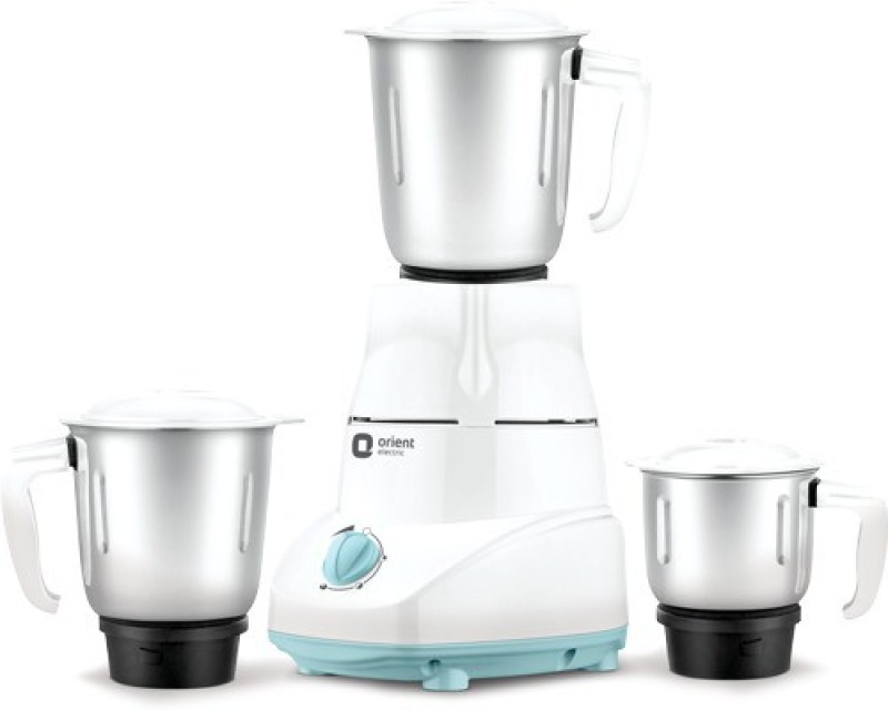 Orient Electric Kitch 500 Mixer Grinder(White & blue, 3 Jars)