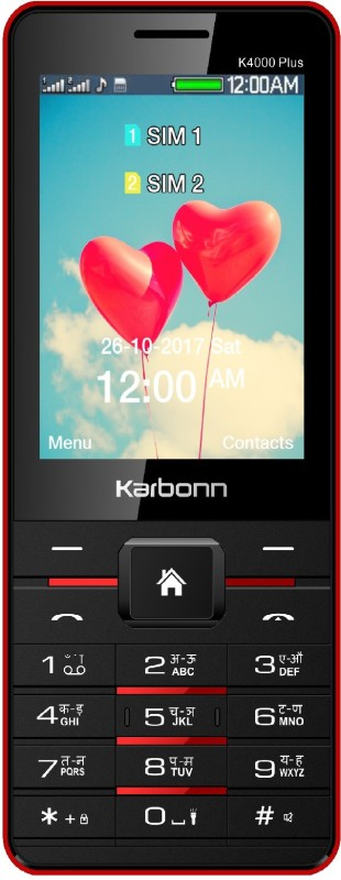 Karbonn K4000 Plus(Black Red) K4000 Plus