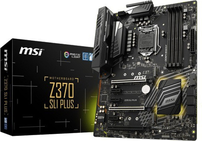 MSI Z370 SLI PLUS 1151 VR Ready 64GB DDR4 ATX Motherboard(Black)