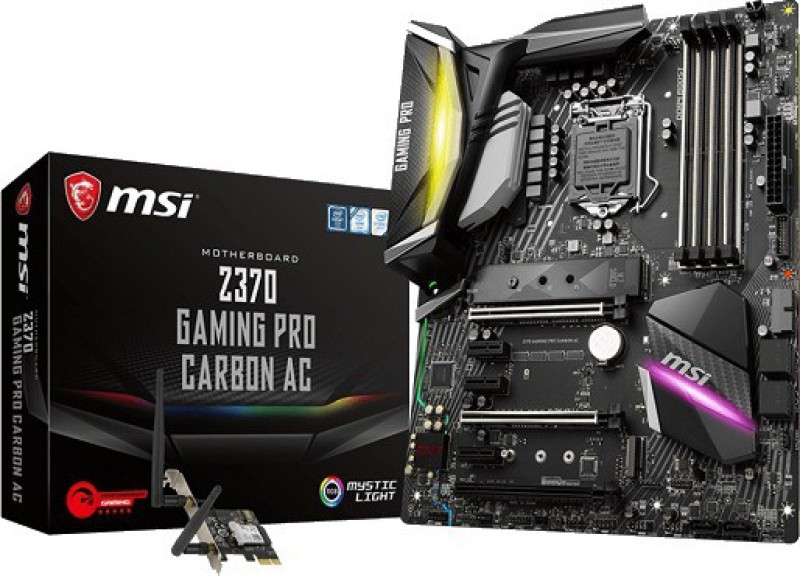 MSI Z370 GAMING PRO CARBON AC ATX Motherboard(Black)