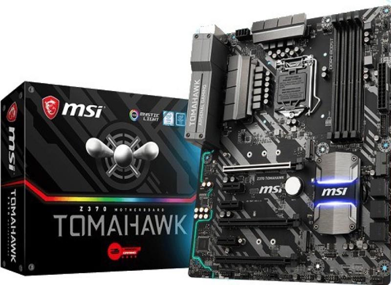 MSI Z370 TOMAHAWK LGA1151/ I Z370/ DDR4/ 2-Way CrossFireX/ SATA3&USB3.1/ M.2/ A&GbE/ ATX Motherboard(Black)