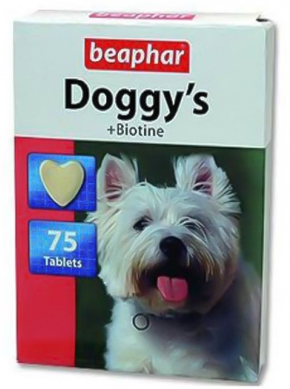 Beaphar Doggy's biotine tabs Pet Health Supplements(75 g)
