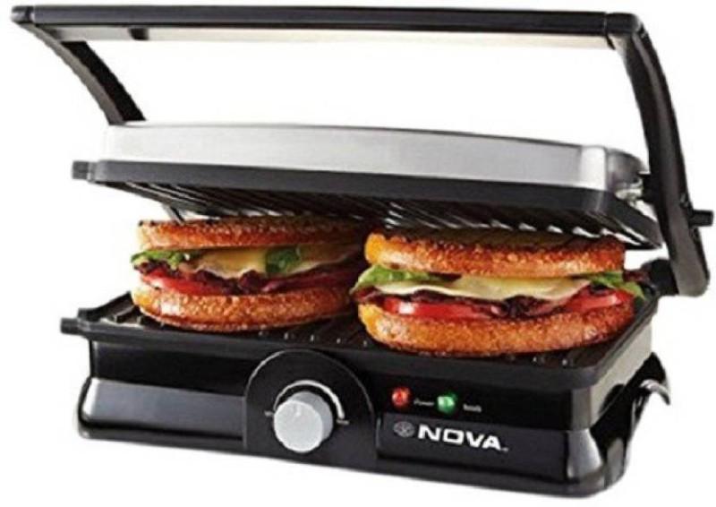 Nova Temperature 4 slice panni 2451/00 Grill(Gery, Black)