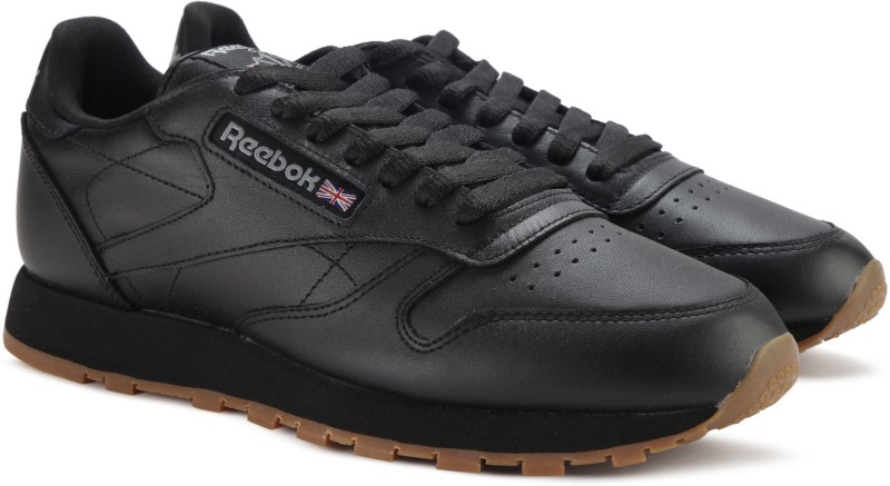 Reebok CL LTHR Sneakers For Men(Black)