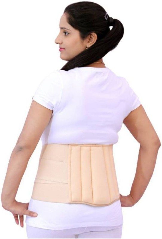 A R Lumbar Sacral Belt Mild Lower Back Pain Fracture Injuries Abdominal Back Support Lumbar Support (S, Beige)